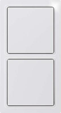 Eltako Rahmen 2-f. reinweiß glänz. R2E-wg