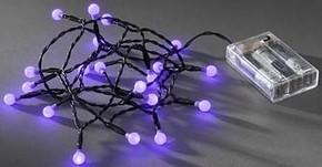 Gnosjö Konstsmide WB LED Globelichterkette 20 LEDs purpurfarben 1491-457