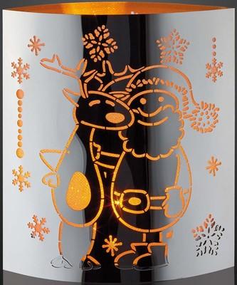 Hellum LED-Deko Rentier Weihnachtsmann 520569