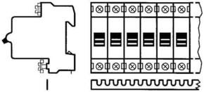 ABB Stotz S&J Univers.Kammschiene 1p. 12qmm 56TE SZ-KS 1/56