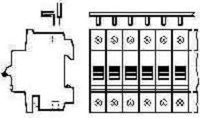 ABB Stotz S&J Kammschiene SZ-KS 16/56N