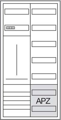 Hager Komplettschrank 1ZP, 1100x550x205mm ZB323T15
