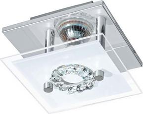 Eglo LED-Wand-/Deckenleuchte 3W chr-sat/kris 93781