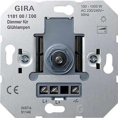 Gira Dimmer-Einsatz 100-1000W 118100