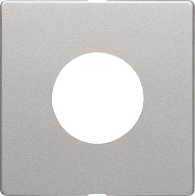 Berker Zentralstück alu/lack Drucktas+LichtsigE10 11246084