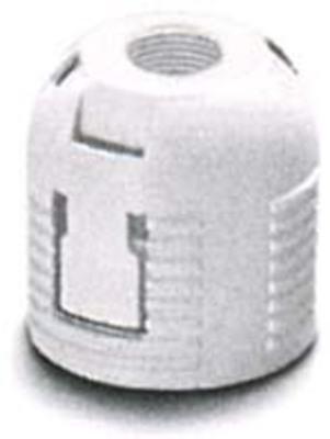 Houben Aufsteckkappe G9 weiß,M8x1,f.E14 Ring 501943