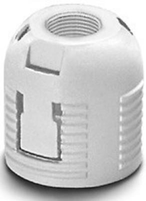 Houben Aufsteckkappe G9 weiß,M10x1,f.E14 Ring 501942