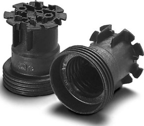 Houben Fassung E27 Thermopl.,sw,Agw 504302