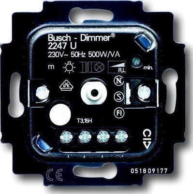 Busch-Jaeger Dimmer-Einsatz 20-500W 2247 U