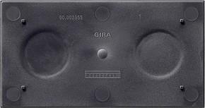 Gira Bodenplatte f.Rahmen 2-fach E2 108200