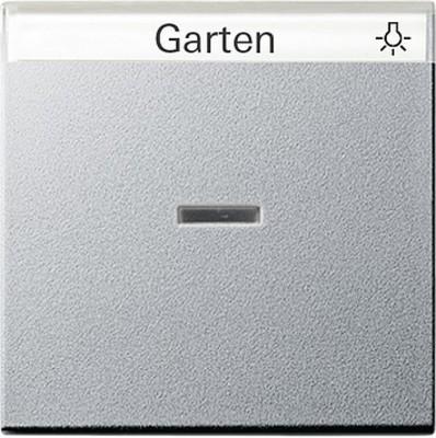 Gira Wippe Kontroll. aluminium m.Schriftfeld 067026