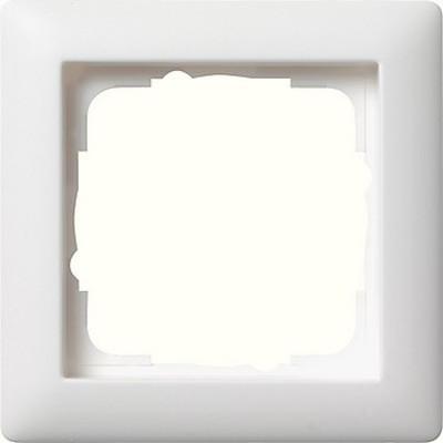 Gira Abdeckrahmen 1-fach reinweiß-seidenmatt bruchsicher 021104