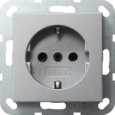 Gira Schuko-Steckdose aluminium System55 018826