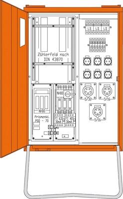 Walther Werke Anschlussverteiler 44kVA 1 Zählerpl.(B) WAV0131B
