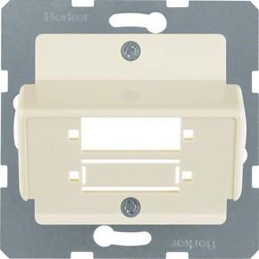 Berker Zentralplatte weiß f.LWL-Kupplung 148002