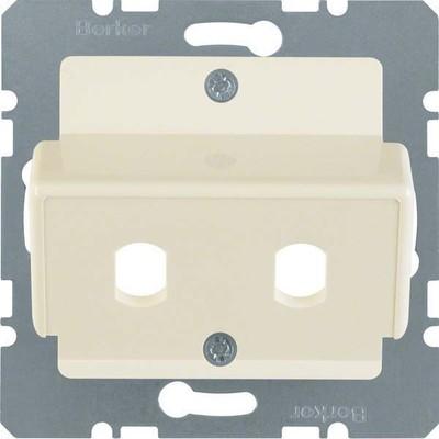 Berker Zentralplatte weiß f.LWL-Kupplung 149202