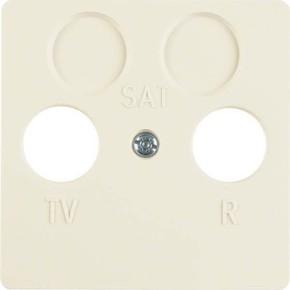 Berker Zentralplatte weiß f.2Loch Antennendose 148602
