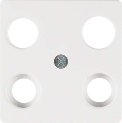 Berker Zentralplatte pws f.4Loch Antennendose 148309