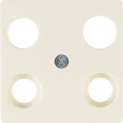 Berker Zentralplatte weiß f.4Loch Antennendose 148302