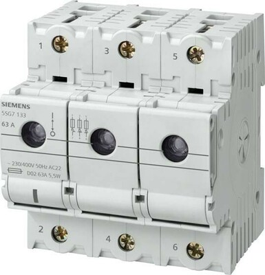 Siemens Indus.Sector Neozed-Lasttrennschalter D02,3-pol.,T=70mm 5SG7133