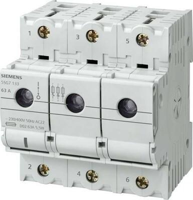 Siemens Indus.Sector Neozed-Lasttrennschalter D02,3-pol.+N,T=70mm 5SG7163