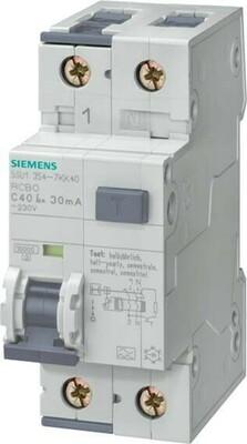 Siemens Indus.Sector FI/LS-Schutzeinrichtung B,40A,1+N,30mA,10kA 5SU1354-6KK40