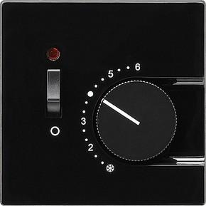 Gira Raumthermostat schwarz Ein/Aus, S-Color 039247