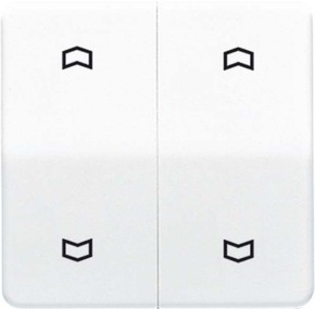 Jung Wippe Symbole weiß für Taster 2-fach CD 595 MP