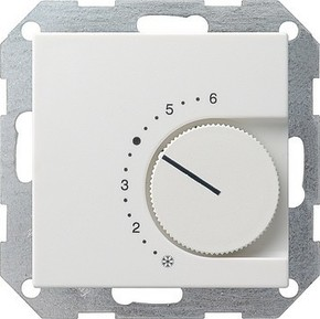 Gira Raumthermostat reinweiß-glänzend Öffner 039003