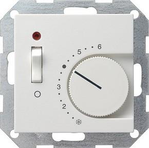 Gira Raumthermostat reinweiß-glänzend Ein Aus 039203