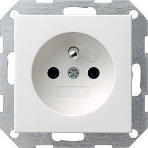 Gira Steckdose reinweiß-glänzend CEBEC 048503