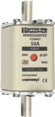 Mersen NH-Sicherungseinsatz SF Gr.00 gG 50A/690V KM NH00GG69V50