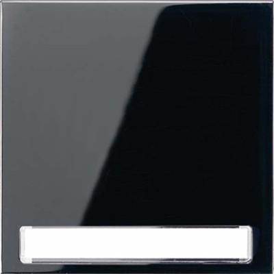 Jung Wippe Schriftfeld schwarz für Taster LS 990 NA SW