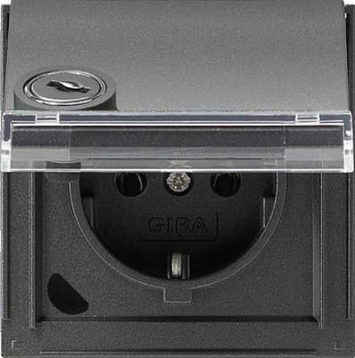 Gira Schuko-Steckdose ant verschliessbar,TX44 044967