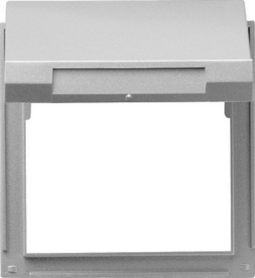 Gira Zwischenplatte aluminium m.Klappd., TX44 065465