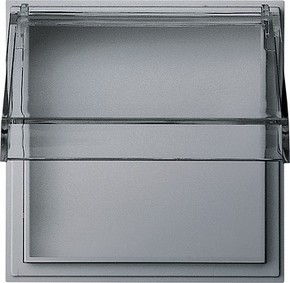 Gira Zwischenplatte aluminium m.transp.Klappd.TX44 040965