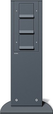 Gira Energiesäule anthrazit m.Geräten 134128
