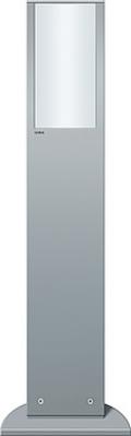 Gira Energiesäule aluminium m.Leuchte 134326