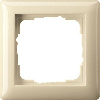 Gira Abdeckrahmen 1-fach cremeweiß-glänzend bruchsicher 021101