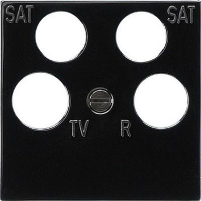 Gira Zentralplatte Ankaro schwarz RF/TV+2xSat 025910