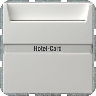 Gira Hotel Card Taster reinweiß-glänzend 014003