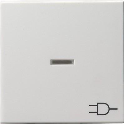 Gira Wippe Kontrollf. reinweiß-glänzend +Symbol Steckdose 020903
