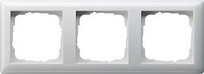 Gira Abdeckrahmen 3-fach reinweiß-glänzend bruchsicher 021303