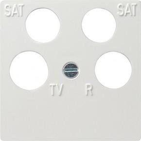 Gira Zentraleinsatz reinweiß-glänzend 50x50 Ankaro 025903