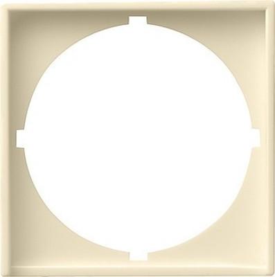 Gira Zentralplatte cremeweiß-glänzend z.Interg.50x50 rund 028101