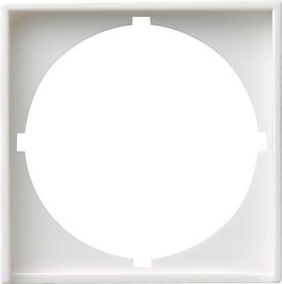 Gira Zentralplatte reinweiß-glänzend z.Interg.50x50 rund 028103