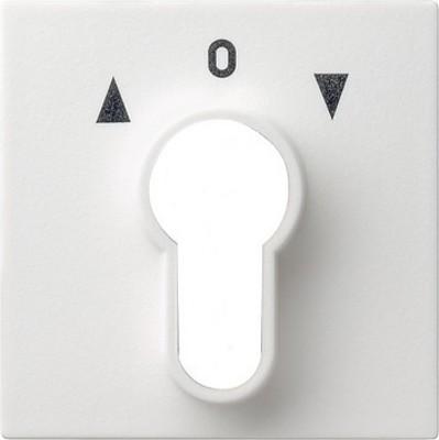 Gira Zentralplatte reinweiß-glänzend f.Schlüsselschalter 066403