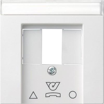 Gira Zentralplatte reinweiß-glänzend für TDO-Steckdose 086003