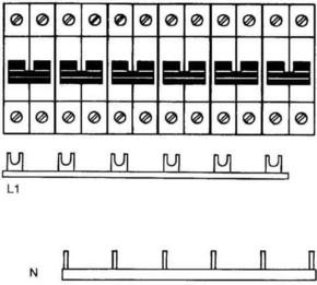ABB Stotz S&J Kammschiene Zuleitung:3Phase+N SZ-KS 11/30N