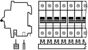ABB Stotz S&J Sammelschienenblock Zuleitung:3Phas.+N SZ-PSB 64N